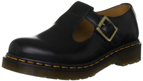 Dr. Martens - Polley, mary Jane  da donna, Nero(Black), 38