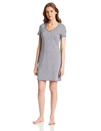 Nautica sleepwear women 39 s solid anchor v neck sleep shirt for Women s flannel sleep shirt
