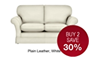 Evie Fixed Medium Sofa - Leather