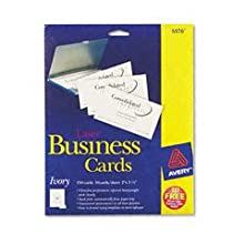 Avery Laser Ivory Business Cards Box 25 (10 Cards)