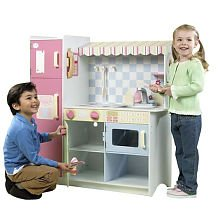 just like home all in one wood kitchen toys