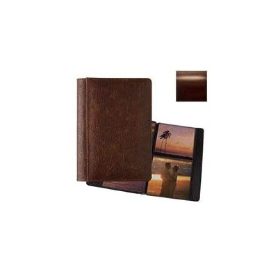 Raika #157 Handcrafted Top Grain Leather, 5 x 5 2-up Post Bound Photo Album, Italian Glazed Leather With Antique Finish, Color: Roma Brown