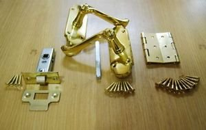 Lever Latch Door Handle Pack - Polished Brass from New A-Brend
