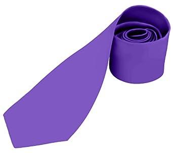 BRAND NEW Mens Necktie SOLID Satin Neck Tie Purple 29