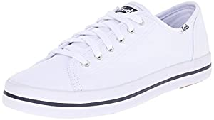 Keds Women's Kickstart Fashion Sneaker, White, 6 M US