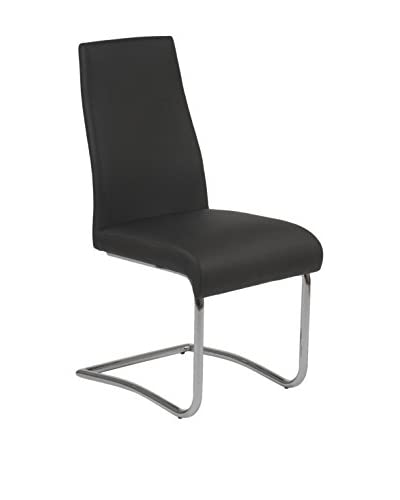 Eurostyle Rooney Side Chair, Black