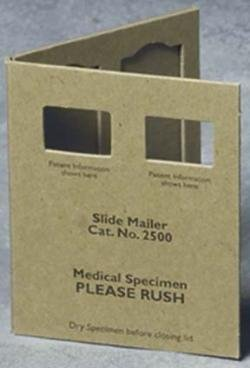 Double Place Microscope Slide Mailers, Heavy Duty, With Window By Richard-Allen Scientific - Box Of 24
