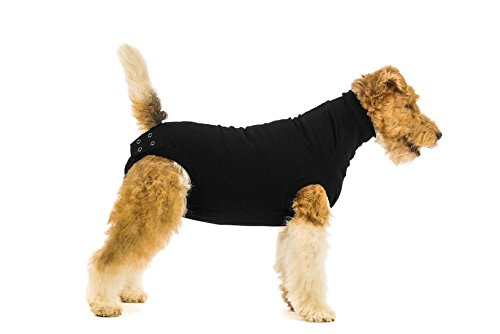 Suitical Recovery Suit for Dogs in color Black - size X-Small