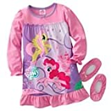My Little Pony Toddler Girl's Nightgown & Slipper Set