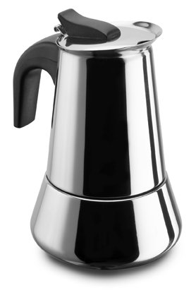 Pezzetti Stainless Steel Induction StoveTop Espresso Coffee Maker Moka Pot - 4, 6 Cup (6 Cup)