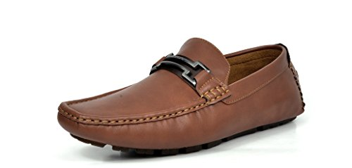 BRUNO MARC MODA ITALY HUGH-01 Men's Classy Fashion On The Go Driving Casual Loafers Boat shoes Brown Size 7.5