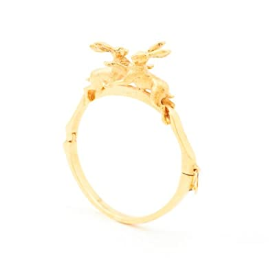 Gold Hare Bracelet by Bill Skinner