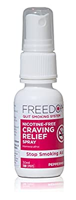 Freedom Quit Smoking, Nicotine Craving Control Spray ñ Quit Smoking Naturally Now ñ Reduce Cigarette Cravings, Fight Nicotine Withdrawal Symptoms, An Easy Way to Quit Smoking Cigarettes Without Side Effects ñ An All Natural & Nicotine Free Stop Smoking Ai