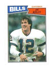 1987 Topps Jim Kelly (Buffalo Bills) Rookie Card (RC) #362 - Shipped In Protective Display Case!
