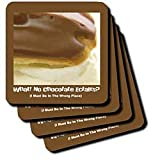 Chocolate Éclair - Set Of 4 Coasters - Soft