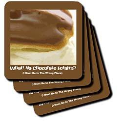 Chocolate Éclair - Set Of 4 Coasters - Soft