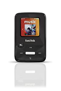 SanDisk Sansa Clip Zip 4GB MP3 Player, Black With Full-Color Display, MicroSDHC Card Slot and Stopwatch- SDMX22-004G-A57K