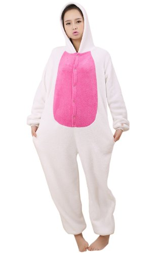 Little Red Heart Rabbit Kigurumi Costume
