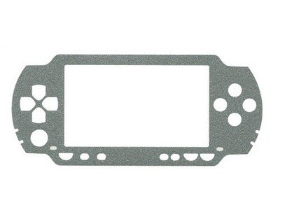 Silver Vinyl Decal Protector Skin For Sony Playstation Portable Psp-1000 front-318622