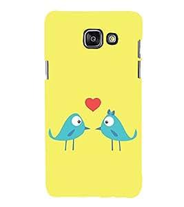 Love Birds 3D Hard Polycarbonate Designer Back Case Cover for Samsung Galaxy A5 (2016) :: Samsung Galaxy A5 2016 Duos :: Samsung Galaxy A5 2016 A510F A510M A510FD A5100 A510Y :: Samsung Galaxy A5 A510 2016 Edition