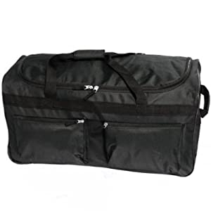 Large 27 Black Wheeled Holdall Sports Holiday Weekend Bag