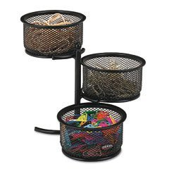 Images for Rolodex Wire Mesh Three-Tier Swivel Tower (62533)