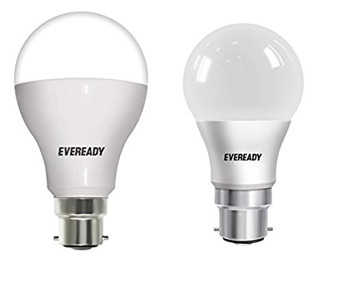 9W And 14W B22D LED Bulb Combo (Cool Day Light) with Free 4 AAA Batteries