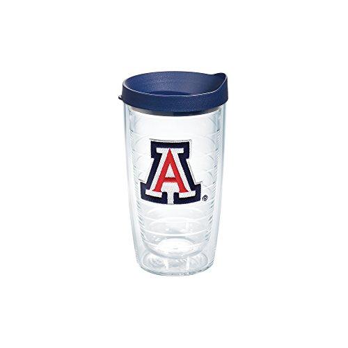 Tervis 1082391 Arizona University Emblem Individual Tumbler with Navy lid, 16 oz, Clear