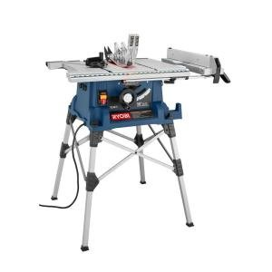 Ryobi 10 In Portable Table Saw With Stand Power Table Saws