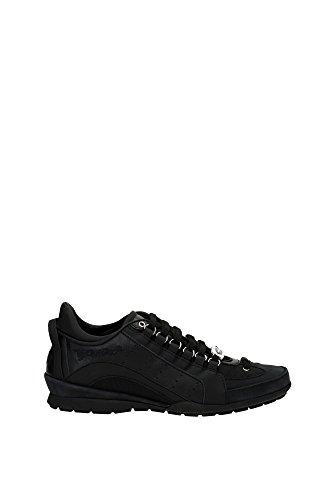 Dsquared2 Herrenschuhe Herren Leder Schuhe Sneakers 551 Schwarz EU 44 W16SN434 715 2124 thumbnail