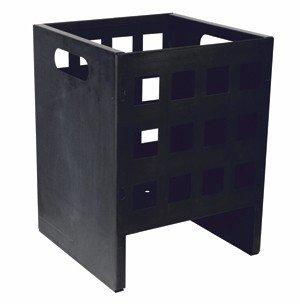 Feuerkorb aus Metall Feuerschale 4-eckig Höhe 40 cm, Breite 30 cm, Tiefe 30 cm – Holzkorb jetzt bestellen