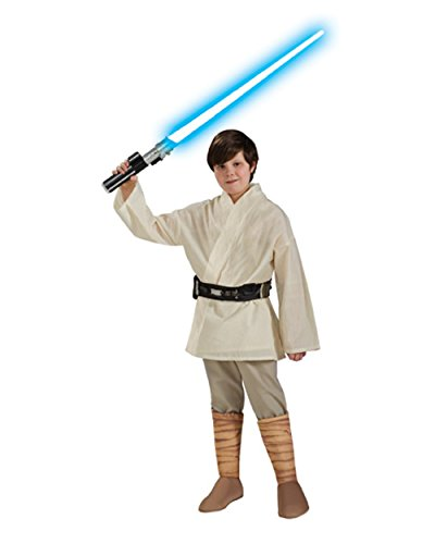 Deluxe Kid's Star Wars Luke Skywalker Costume And Lightsaber Bundle