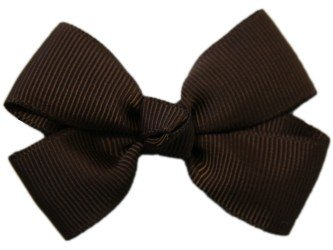 Posies Accessories Bitty (small) Brown Grosgrain Hair Bow
