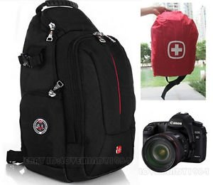 zhigao Swiss Gear Sling Camera Case Shoulder Bag Backpack Nikon Canon Sony SLR SA0372C
