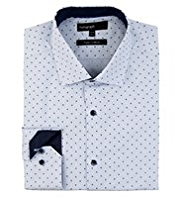 Autograph Pure Cotton Spotted Shirt
