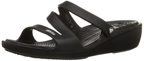 Crocs Women's Patricia Mini Wedge,Black/Black,7 M
