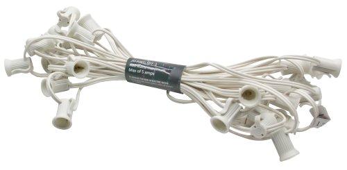 American Lighting Xc72512-Wh Seasonal Lighting Stringer For C7 Bulbs, White, 25-Feet