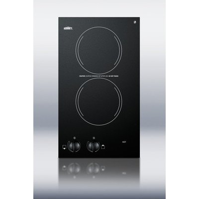 Two Burner Electric Cooktop in Black Voltage:
