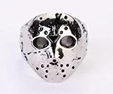 buy Skullcando 316L Stainless Steel Rings Mens Cool Punk Jason Mask Biker Rings Us Size 8