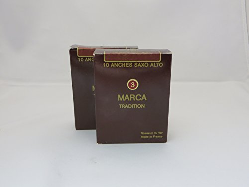 Marca Reeds Tradition Alto Saxophone 3, 2 Boxes of 10 мат marca marukan marukan