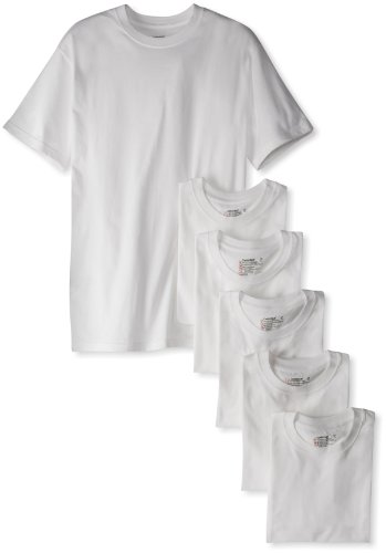 Hanes Men's Classics 6 Pack Crew Neck Tee