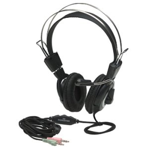 Manhattan Classic Stereo Headset With Flexible Metal Boom Microphone And In-Line Volume Control (175555)