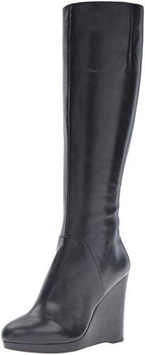 Nine West Women's Harvee Leather Winter Boot, Black, 8.5 M US
