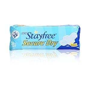 Stayfree Secure Dry WINGS Qty:8 Pads
