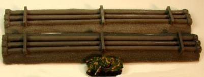 Terrain: 1/285th Scale (6mm) WWII/Modern - Curved Pipes (3)