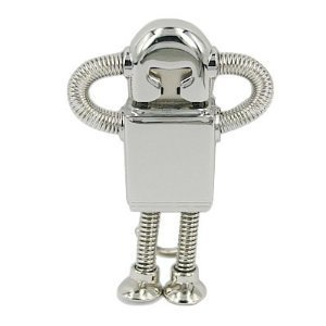 Silver Robot 8 GB USB Flash Drive