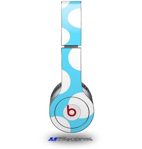 Kearas Polka Dots White And Blue Decal Style Skin (Fits Beats Solo Hd Headphones - Headphones Not Included)