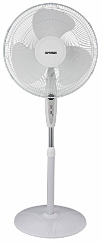 Optimus F-1672WH Oscillating Stand Fan with Remote Control, 16-Inch, White (Fan Stand Remote compare prices)