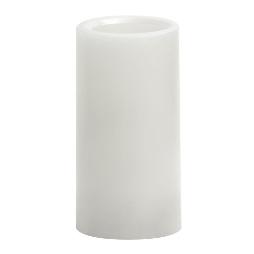 Candle Impressions Cat64600Wh01 6-Inch Smooth Flameless Candle With Vanilla Fragrance, White