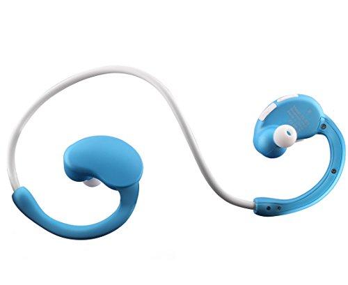 Vafru MJsound-N9 Bluetooth 4.1 Wireless Sport Headphones Sweatproof Running Exercise Stereo Earbuds Earphones Headsets with Mic Nano-coating Sweatproof Supper Light (Blue)